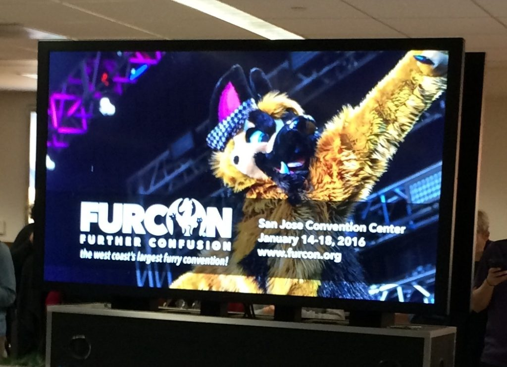 Fur Con was proudly advertising it's upcoming conference in San Jose - interesting!
