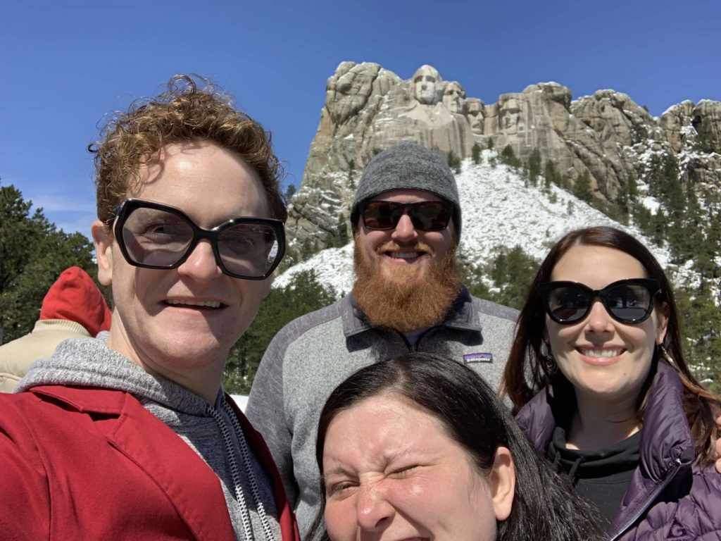The crew at Mt. Rushmore